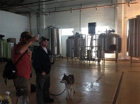 Brewery floor before repairs